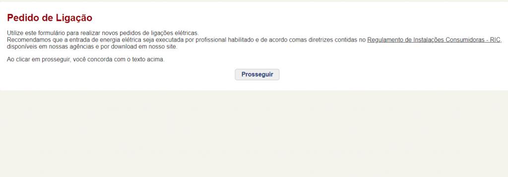 Agência Virtual da CEEE Pedido de Ligação
