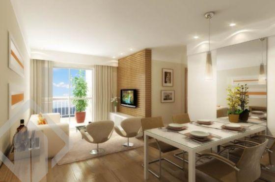 Apartamento novo 2 dormitórios, sacada com churrasqueira, living 2 ambientes, cozinha americana, área de serviço, 1 vaga de garagem em condomínio com infraestrutura completa com piscina, quadra de esportes, salão de festas, playground, portaria 24 horas