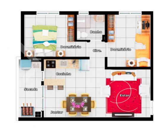 Apartamentos de 2 dormitórios à venda em São Vicente, Gravataí - RS