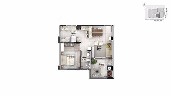 Apartamentos de 1 dormitório à venda em Americano, Lajeado - RS