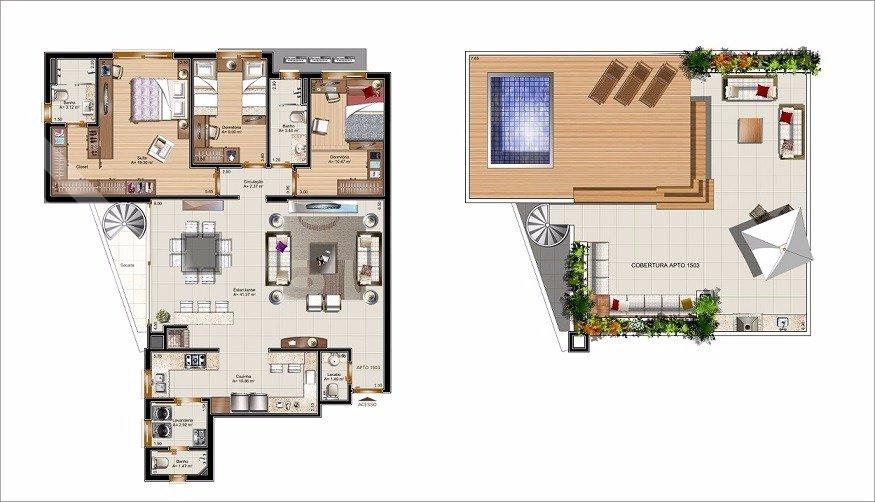 Apartamentos de 3 dormitórios à venda em Auxiliadora, Porto Alegre - RS