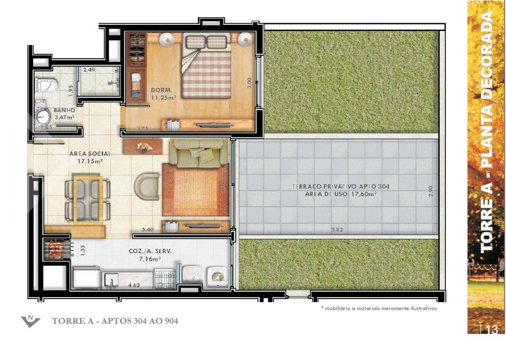 Apartamento 1 quarto à venda no bairro Passo da Areia, em PORTO ALEGRE